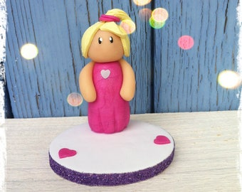 Figurine little girl to be personalized (birthday, baptism...)