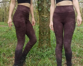 f3c60116a7f0f HEMP Forest Dwellers 2 Pocket Leggings, full length, organic  hemp/cotton/lycra stretch, festival clothing, burning man, psy, pixie, goa,  eco