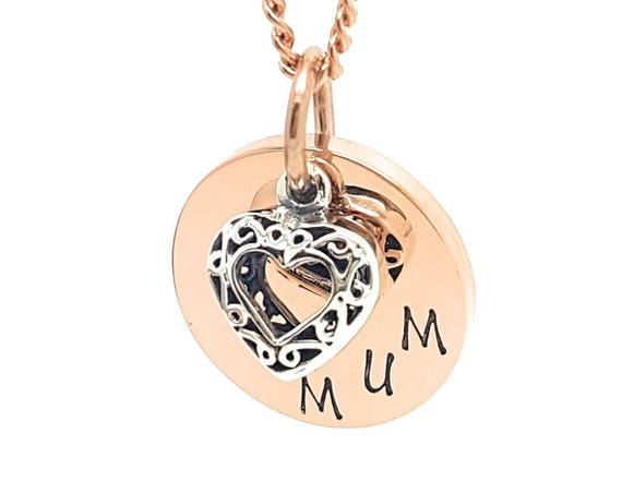 Hand Stamped Necklace Personalized Necklace Hand Stamped Jewelry Personalized Jewelry Handstamped Necklace Mothers Necklace Rose Gold Family