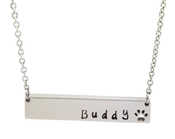 Personalised Jewellery, Personalised Necklace, Family Necklace, Hand Stamped Pet Memorial Necklace,  Pet Remembrance Necklace