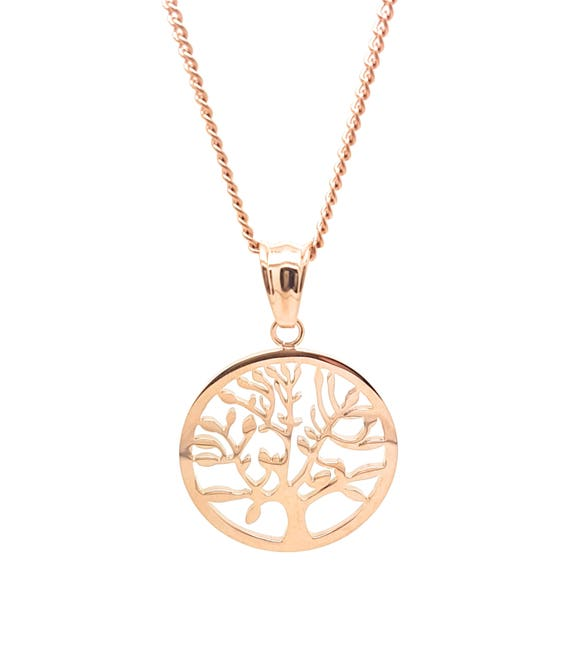 Coorabell Crafts Rose Gold Tree of Life Pendant and Necklace,  The Tree of Life represents family and Growth, Stylish Gift Box included