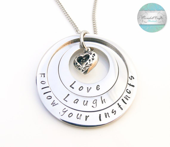 Personalised Layered Necklace Mothers Necklace Family Jewelry Personalized Jewellery Grandmother Necklace Silver Surgical Steel Family