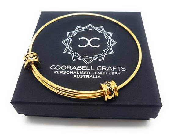 Coorabell Crafts Gold Expandable Filigree Bead Bangle with Gift Box Included, elegant  timeless bangle