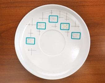 Vintage 50s Melmac Dishes Meldale Melamine White and Turquoise Saucer Plates & Melamine | Etsy