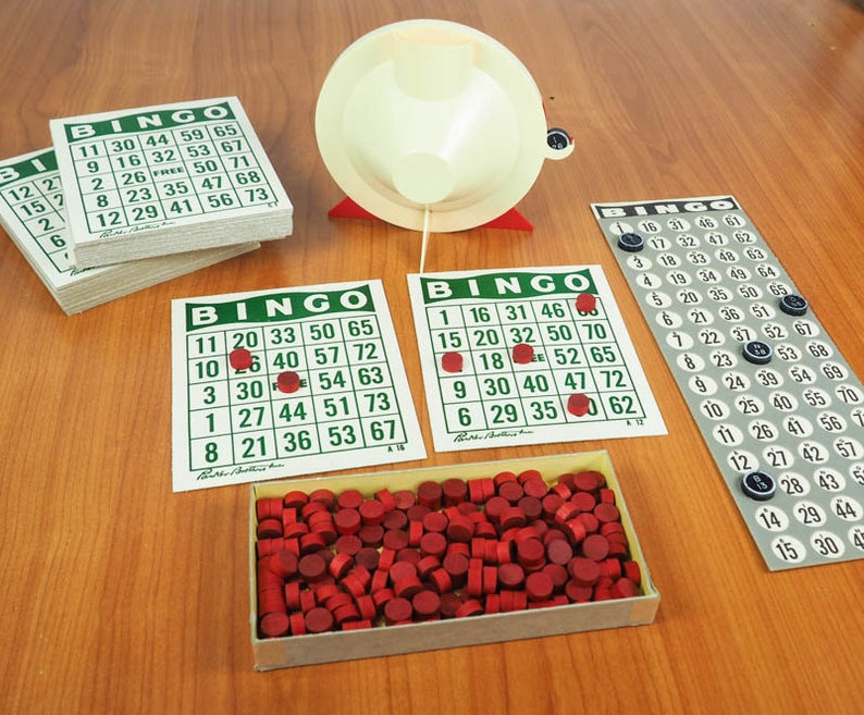 Vintage BINGO Game 1963 Parker Brothers Automatic Selector