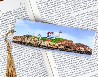 Laminated bookmark of the Nubble Lighthouse at Cape Neddick, Maine