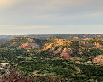 Panorama Palo Duro Canyon near Amarillo, Texas - Texas -- Mounted and Matted, Frame-Ready Panoramic Photograph
