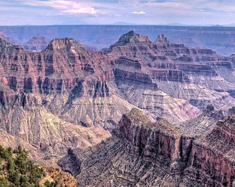 Grand Canyon From the North Rim Panorama -- Arizona -- Mounted and Matted, Frame-Ready Panoramic Photograph