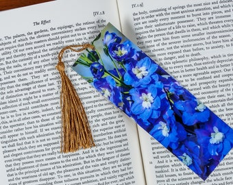 Laminated bookmark of a Cluster of Heliotrope Flowers