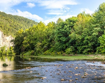 Steel Creek Panorama -- Arkansas --Buffalo River -- Mounted and Matted, Frame-Ready Panoramic Photograph