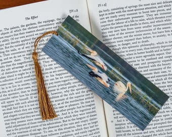 Laminated bookmark of Pelicans Flying in Formation