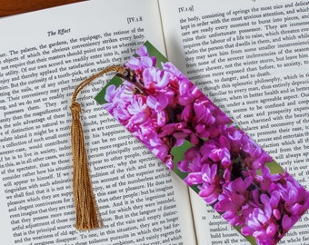 Laminated bookmark of a Cluster of Lilac Flowers