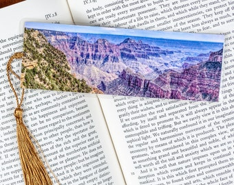 Laminated bookmark of the Grand Canyon from the North Rim