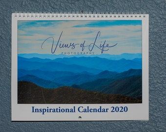 2021 wall calendar with landscape photos & inspiring quotes each month