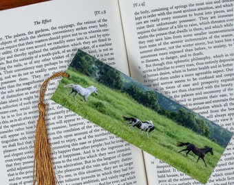 Laminated bookmark of Beautiful Horses Running Free