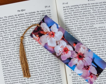 Laminated bookmark of Pink Cherry Blossoms