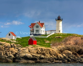 Cape Neddick (Nubble) Lighthouse - Maine - Northeast - Coast  -- Prints, Matted and Mounted, Framed, Canvas, Metal