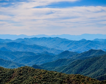 Ridgelines of the Great Smoky Mountains-- Prints, Matted and Mounted, Framed, Canvas, Metal