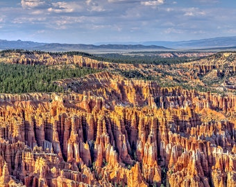 Panorama of Sunset Point in Bryce Canyon, Utah -- Mounted and Matted, Frame-Ready Panoramic Photograph
