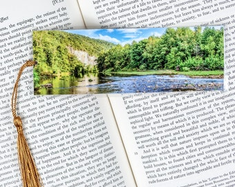Laminated bookmark of Steal Creek in the Buffalo National River Park in Arkansas