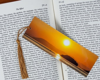 Laminated bookmark of a Sunset Over the San Juan Islands in Washington