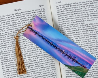 Laminated bookmark of Dallas Texas Reflecting in the Trinity River at Sunset