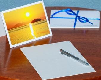 Sunset in the San Juan Islands - Notecards