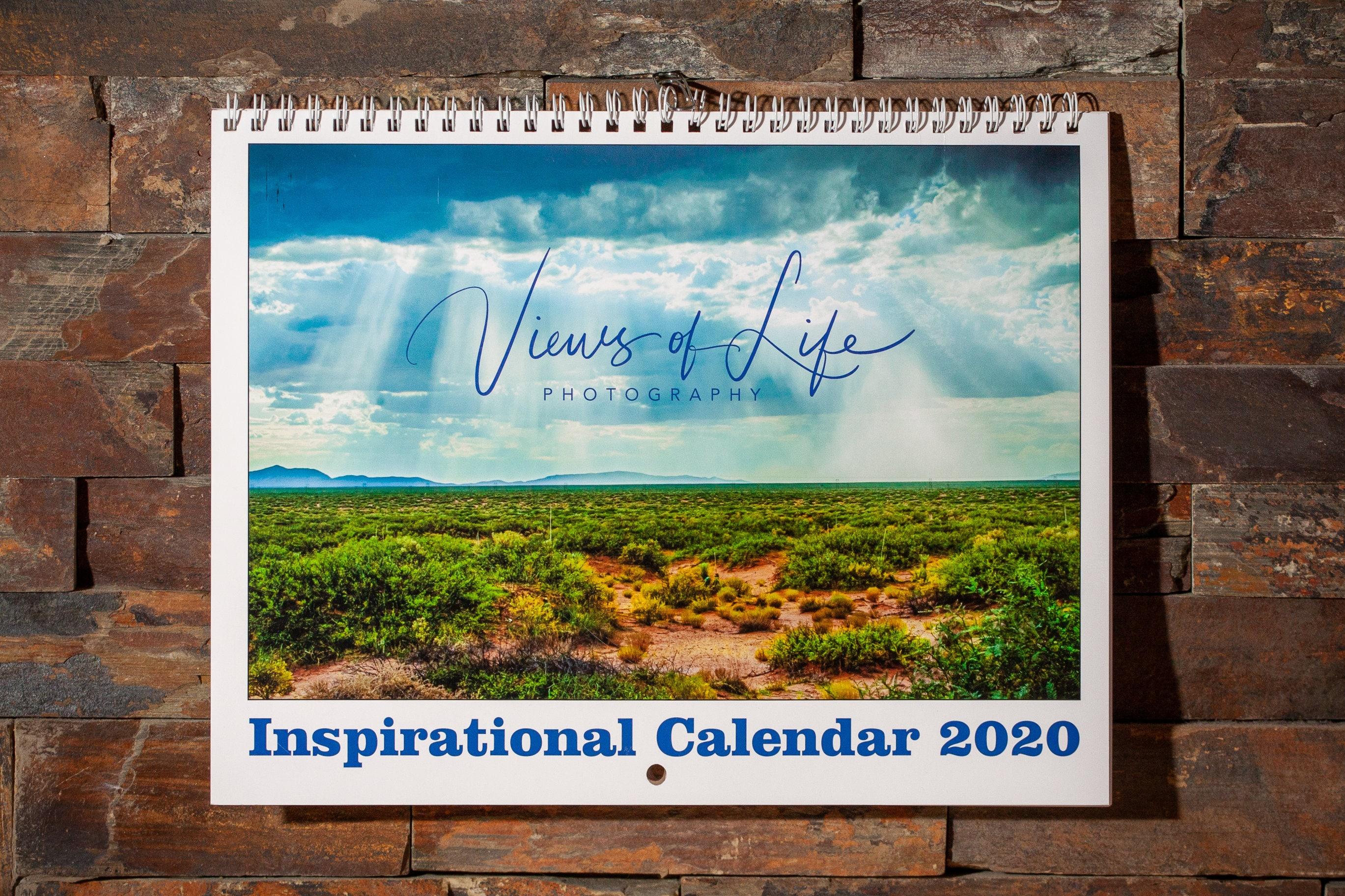 wall calendar landscape photos inspiring quotes each