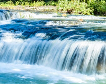 Haw Creek Falls Panorama -- Arkansas --Buffalo River -- Mounted and Matted, Frame-Ready Panoramic Photograph