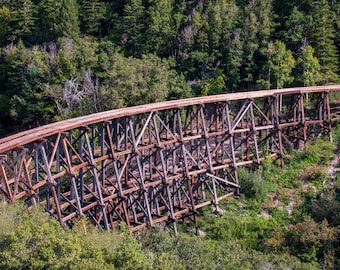 Mexican Canyon Trestle, Cloudcroft, NM -- Prints, Matted and Mounted, Framed, Canvas, Metal