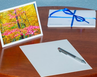 Red Leaved Tree in Autumn - Notecards