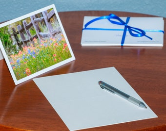 Wildflowers Along a Fence Line - Notecards
