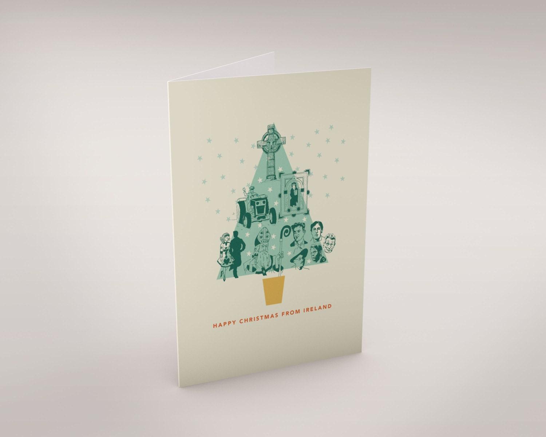 Happy Christmas From Ireland Christmas Card | Etsy