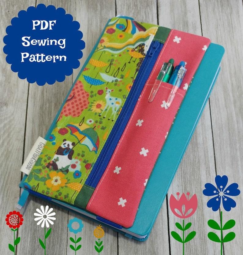 Journal Sleeve CUSTOM fit easy beginner PDF sewing pattern image 0