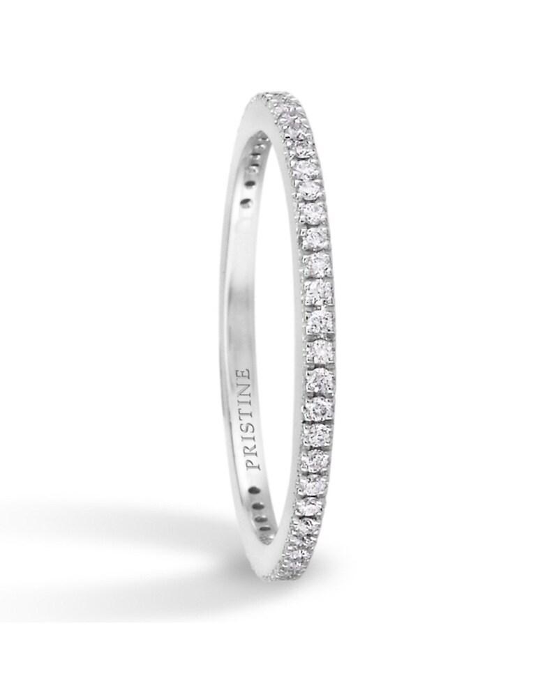 25f16812e7ba3 Diamond Wedding Band Round Diamonds .14ct Petite Pave Diamond Band Wedding  Band Anniversary Band Wedding pristine custom rings
