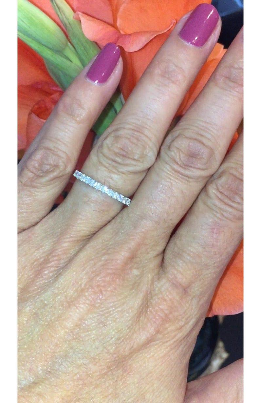c2dc2dd2bd53f Diamond Wedding Band Round FVS2 Natural Diamonds .23ct Prong Set Diamond  Band Anniversary Band 18k White Gold Ring Pristine Custom Rings