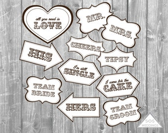 Word Bubble Photo Booth Signs Wedding Photobooth Signs Photo Etsy