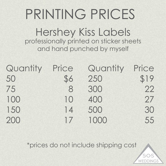 Hershey Kuss Aufkleber gedruckt gedruckt Aufkleber wir | Etsy