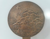 Antique Chinese Bronze Mirror. 1800 39 s. Antique Bronze Chinese Hand Mirror. Antique Meiji Art. Oriental Antiquities. Home Decor. Chinese Art.