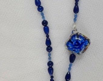 Beaded Necklace Style Medic Alert  Holder