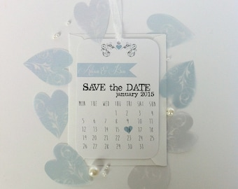 Calendar Save The Date Tag Sample