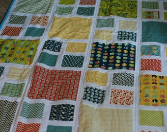 quilts for sale, Modern patchwork quilt, twin size quilt, custom quilt, wedding gift, anniversary gift, shower gift, full size quilt