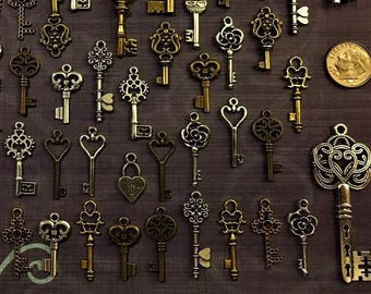 Replica Keys of Air Wholesale Skeleton Vintage Antique Charms Jewelry Steampunk DIY Wedding Craft Bead Supplies Craft Wind Chimes Key Chain