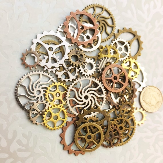 40 new large medium small steampunk gears cogs buttons etsy