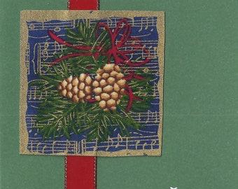 Festive Pine Cones - Season's Greetings