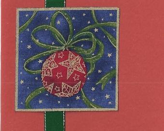 Festive bauble Christmas card