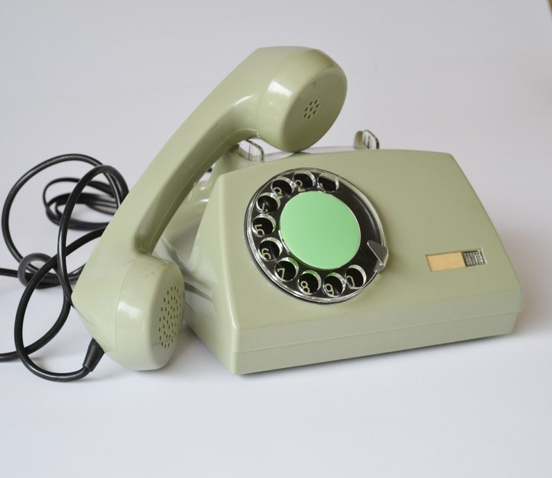 Vintage Rotary Telephone, Retro Landline Phone, Classic Home Wired  Telephone, Oldschool Office Phone, 80s Electronics, Working Old Phone