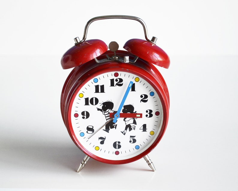 Double Bell Alarm Clock, Twin Bell Alarm Clock, Mechanical Wind-up Clock,  Vintage Gift, Analog Vintage Home Decor, Alarm Clock for Kid