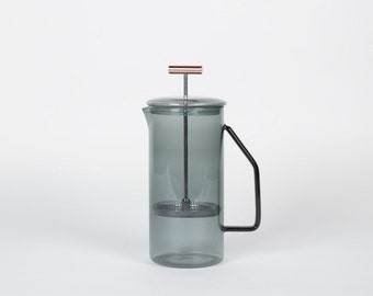 850 mL Glass French Press - Gray