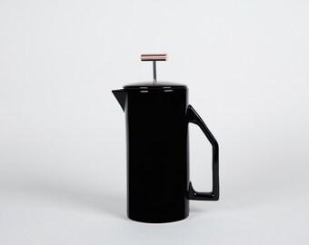 850 mL Ceramic French Press - Black